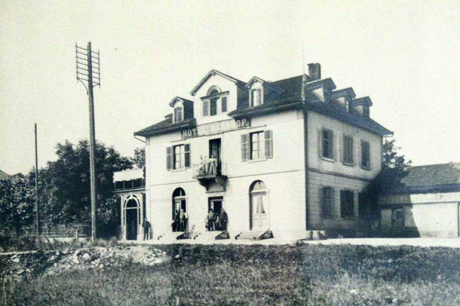 Hotel Bahnhof Brugg um 1900